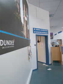 Dundee Airport entrance